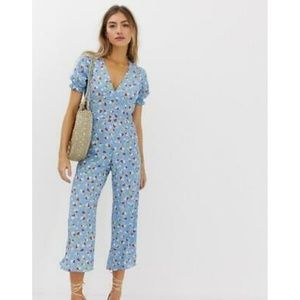 Faithfull The Brand Mallory Floral Jumpsuit NWT